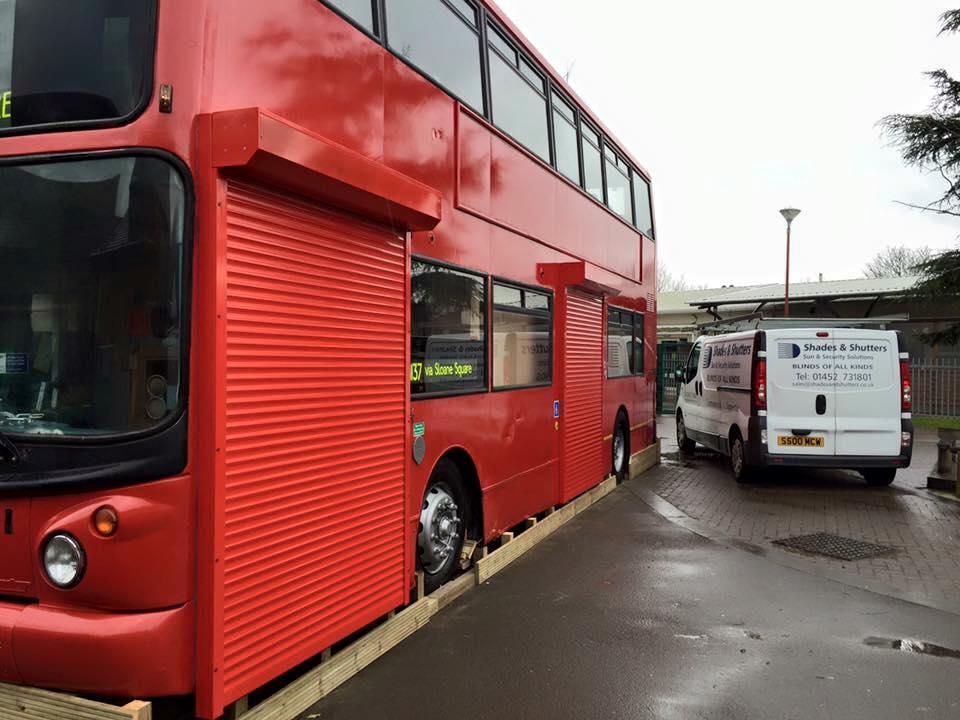 Bus Roller Shutters Bespoke Blinds Cheltenham And Gloucester