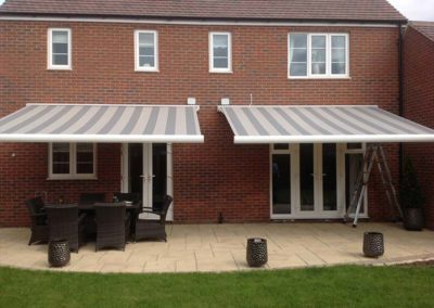 Double Electric Awnings