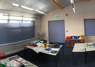School Revamp with Crank Handle Operated Roller Blinds