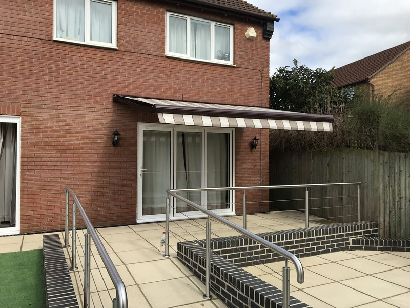 Electric Awning Gloucester Bespoke blinds Cheltenham and Gloucester